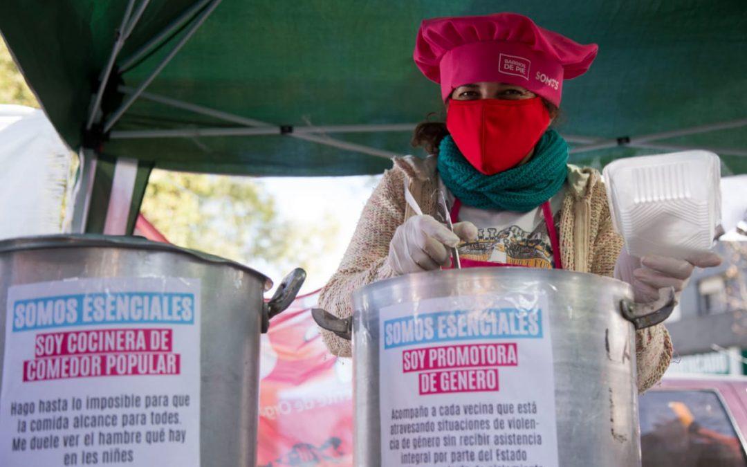 Somos Esenciales: Jornada de ollas populares en reclamo de recursos y reconocimiento para trabajadores comunitarios