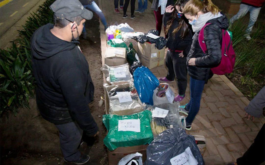 Legisladores y legisladoras del Frente de Todos continúan entregando donaciones para personas en situación de calle